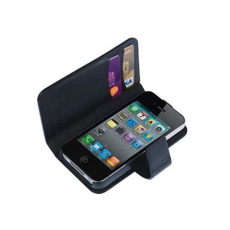 housse clapet iphone 4 trexta housse clapet cuir modele rotating folio pour iphone 4