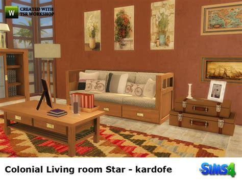colonial livingroom by kardofe at tsr 187 sims 4 updates