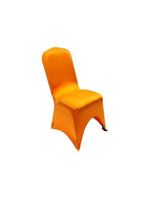 orange spandex chair covers