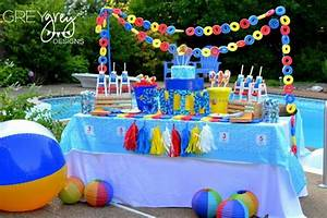 Kara's Party Ideas Summer Pool Party Ideas Planning Cake