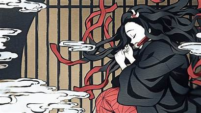 Nezuko Wallpapers Traditional Japanese Imgur Nekuzo Painting