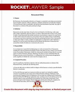 Anti Discrimination Policy Template Workplace Company Harassment Policy Template With Sample