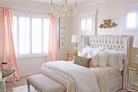 pink and gold 39 s bedroom makeover randi garrett design