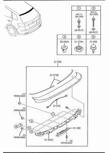 Mazda Cx-9 Bracket  Rear Spoiler - Ctr