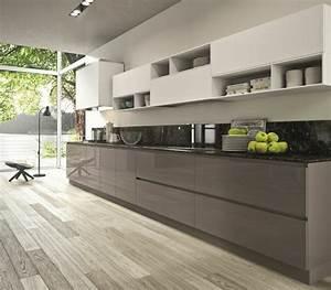 plan de travail cuisine moderne en pierre et bois With plan de travail design cuisine
