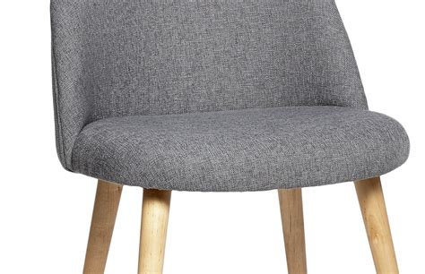 chaise en tissu chaise scandinave en tissu gris pièce à vivre
