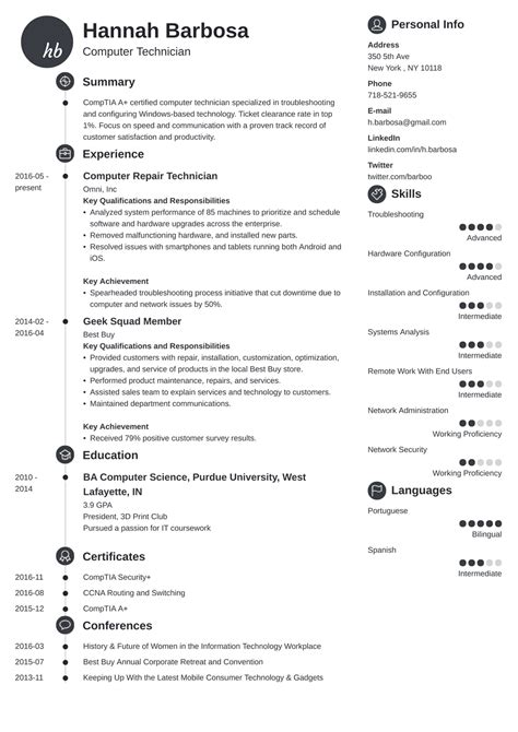 technician resume mt home arts