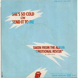 She's so cold/send it to me by The Rolling Stones, SP with ...