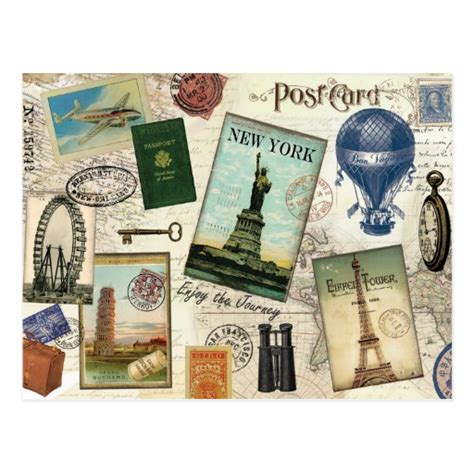 travel collage templates travel collage postcards postcard template designs