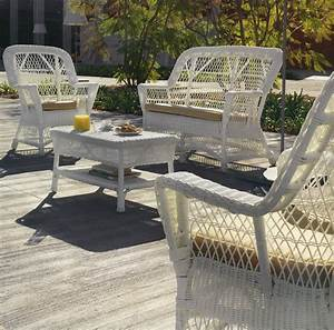 Salon De Jardin Osier : meubles en rotin blanc maison design ~ Dallasstarsshop.com Idées de Décoration