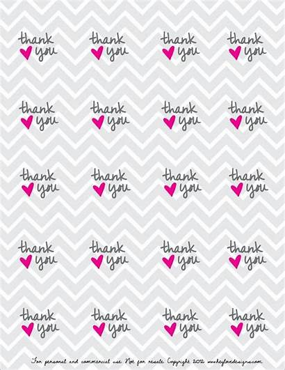 Thank Printable Tags Labels Tag Gift Stickers