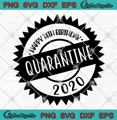 The free svg snowman snowflake initial monogram stencil cut files are available for free in my resource library, a bonus for email subscribers to my blog. Happy 14th Birthday Quarantine 2020 Coronavirus SVG PNG ...