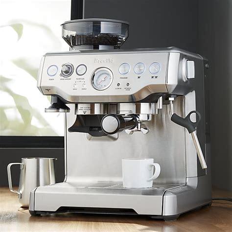 barista espresso machine breville 174 barista espresso machine crate and barrel