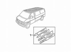 Gmc Savana 3500 Door Emblem  Vortec Engines  Front