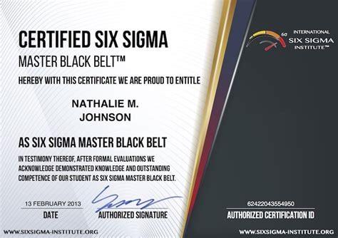 what is usd 99 certified six sigma master black belt