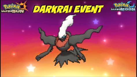 ultra pokemon sun darkrai event