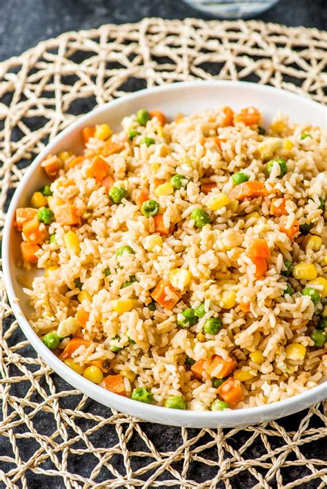 10 minute simple egg fried rice homemade hooplah
