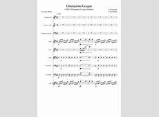 Champions League UEFA Champions League Anthem Sheet