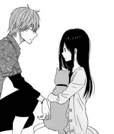Black and White Anime Couples Drawings