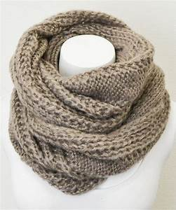 Leto Collection Mocha Cable-Knit Infinity Scarf | Cable ...
