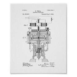design fã r fingernã gel tesla electric generator patent poster zazzle