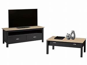 Ensemble Meuble Tv Conforama : meuble tv 110 cm finition verni amazone coloris anthracite ~ Dailycaller-alerts.com Idées de Décoration