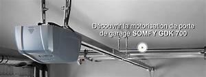 motorisation de garage connecte a courroie somfy gdk 700 With somfy porte garage motorisation