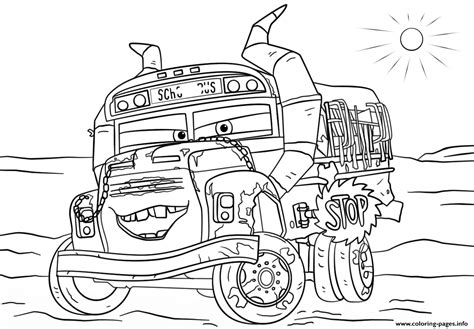 Miss Fritter From Cars 3 Disney Coloring Pages Printable