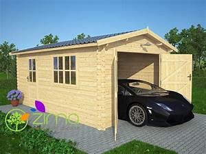 Garage Bois 20m2 : garage en bois massif 20m2 ~ Melissatoandfro.com Idées de Décoration