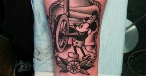 Steamboat Willie Tattoo by Traditional Steamboat Willie Mickey Tattoo By Steve Rieck