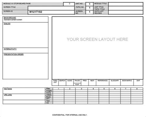 website screen layout storyboard template webpage