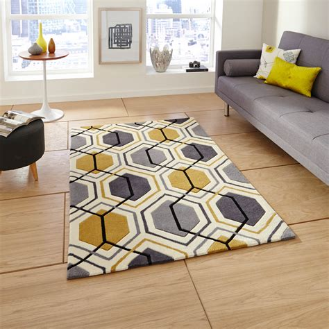 Light Gray Curtains For Nursery by Hong Kong Hk 7526 Rugs In Grey Yellow Free Uk Delivery