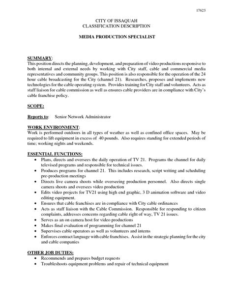 cover letter media specialist sle resume resume daily