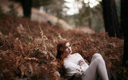 Forest Sad Nature Redhead Scene Wallpapers Hair