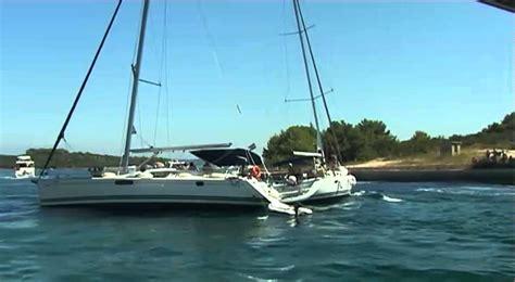 Sailboat Fails by Two Sailboats Vs Bridge Collision Fail