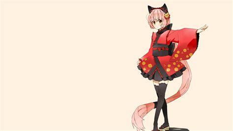 Anime Girl And Cat Hd Wide Wallpaper For Widescreen 89