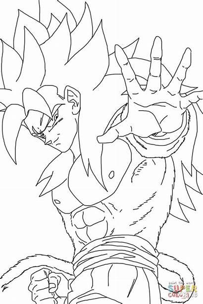 Coloring Saiyan Coloriage Colorir Goku Dragon Sayen