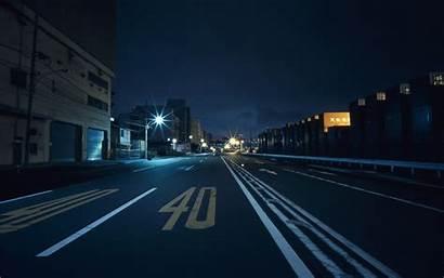 Japan Night Street Wallpapers Background Road Lights