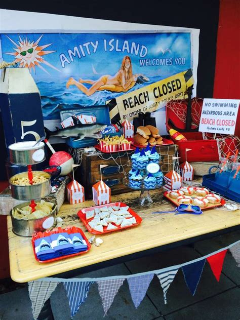 jawsshark summer party ideas photo    catch  party
