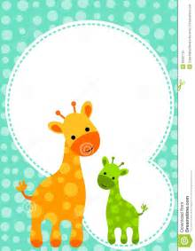 baby shower giraffe invitation card royalty free stock