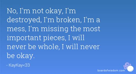 I Am Broken But Not Destroyed Quotes