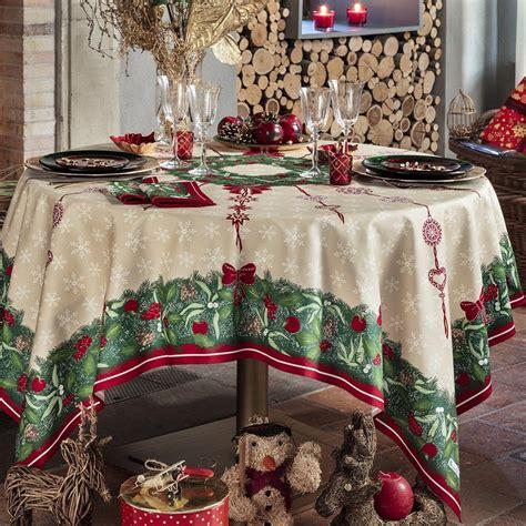 nappe de table coton de no 235 l vert nappe jour de f 234 te beauvill 233