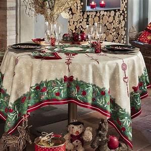 Nappe De Noel : nappe de table coton de no l rouge vert nappe jour de f te beauvill ~ Teatrodelosmanantiales.com Idées de Décoration