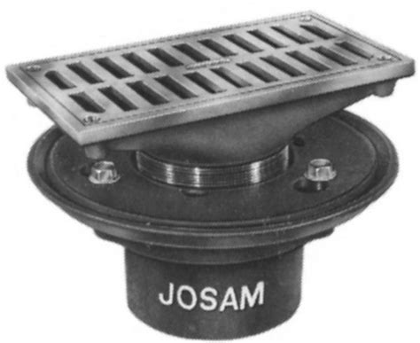 josam floor drain 30000 js30000 r josam 30000 r c i with rectangular