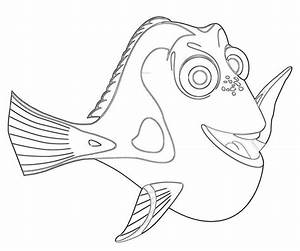 Finding Nemo Dory Coloring Pages - Coloring Home