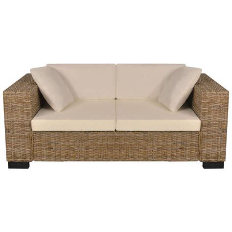 ensemble de canapé acheter vidaxl ensemble de canapé 2 places 7 pièces rotin