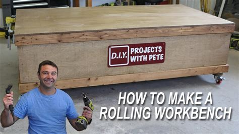 build  workbench   large flat surface  wheels