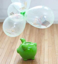 geldgeschenk  luftballons mit sparschwein
