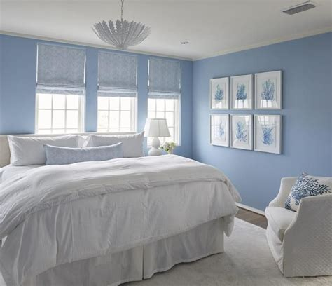 Bedroom Decor Light Blue Walls by White And Blue Cottage Bedroom Boasts Walls Painted