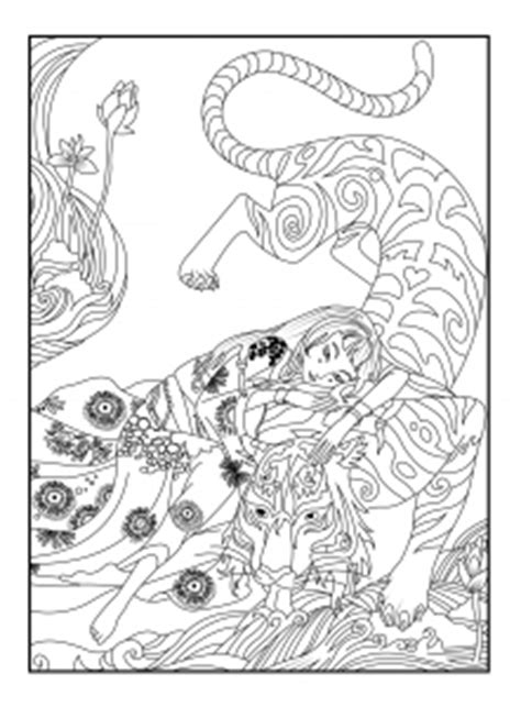 japanese tiger coloring page  coloring pages